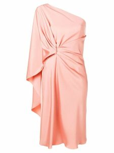 Alberta Ferretti one-shoulder draped dress - Pink