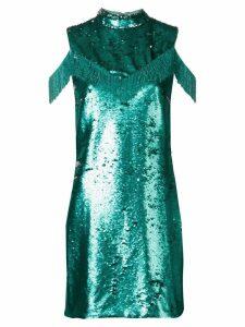 Vivetta sequin cold shoulder dress - Blue