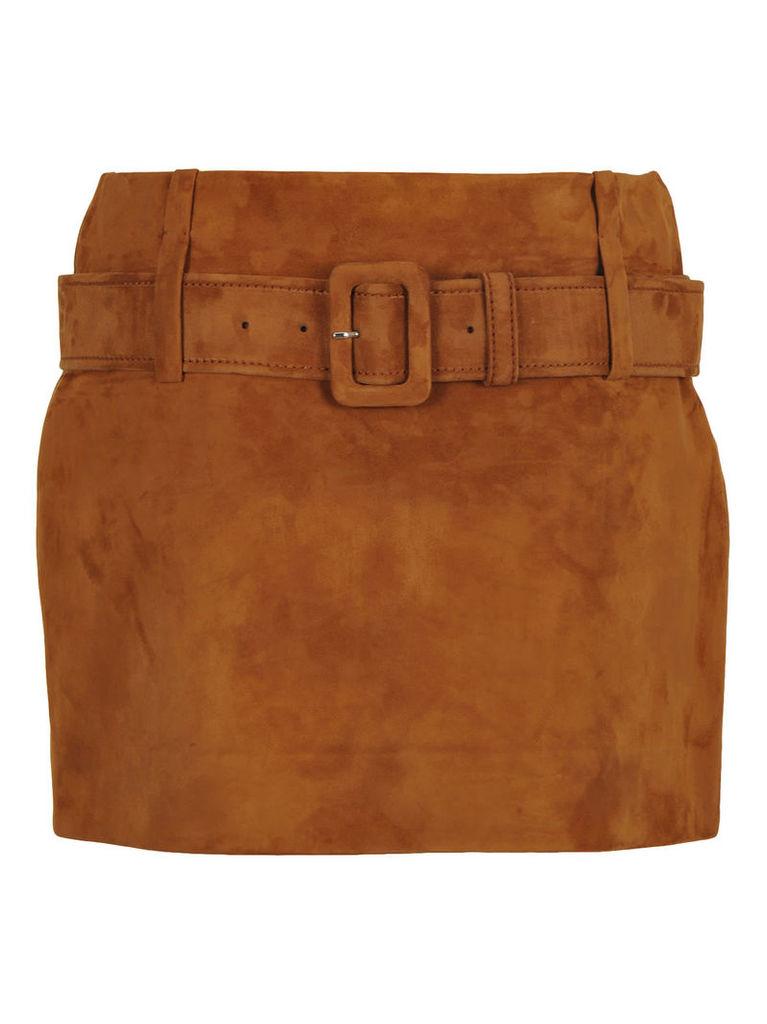Prada Prada Belted Mini Skirt