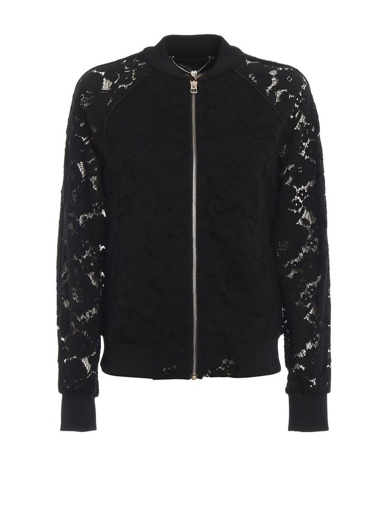 Twin-set Floral Lace Bomber
