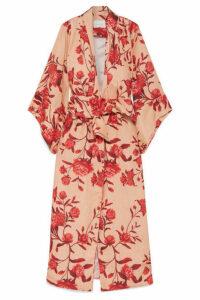 Johanna Ortiz - Santa Clara Floral-print Linen Kimono - Blush