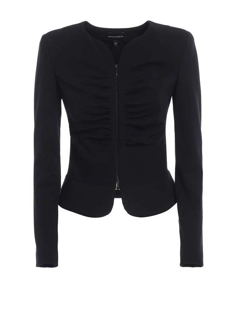 Emporio Armani Draped Effect Jacket