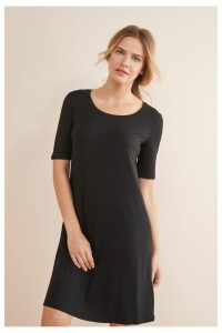 Womens Next Black Jersey T-Shirt Dress -  Black