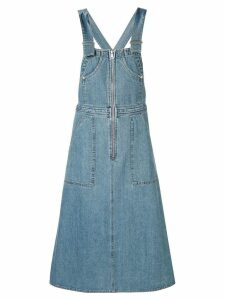 Sea denim dungaree dress - Blue