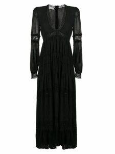 Philosophy Di Lorenzo Serafini embroidered detail maxi dress - Black