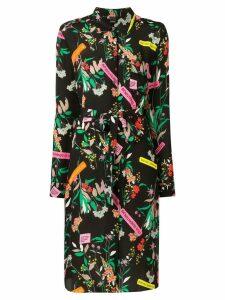 Pinko floral shirt dress - Black
