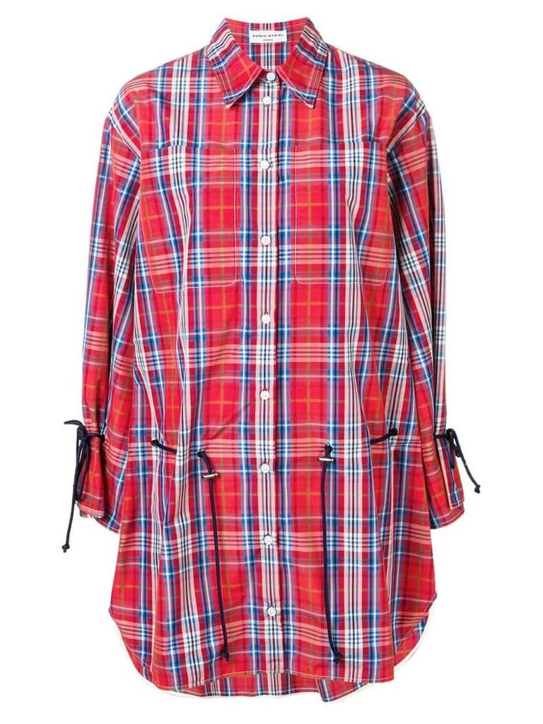 Sonia Rykiel checked shirt dress - Red