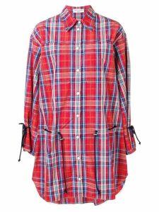 Sonia Rykiel checked shirt dress - Red