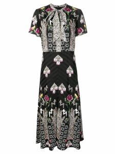 Temperley London geometric print dress - Black