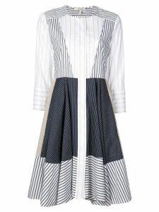 Dorothee Schumacher striped patchwork shirt dress - White