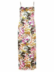 Adam Lippes printed cami dress - White