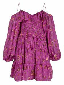Ulla Johnson off shoulder floral dress - Pink