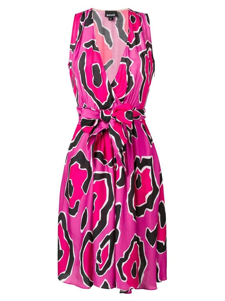Just Cavalli Panther print dress - Pink