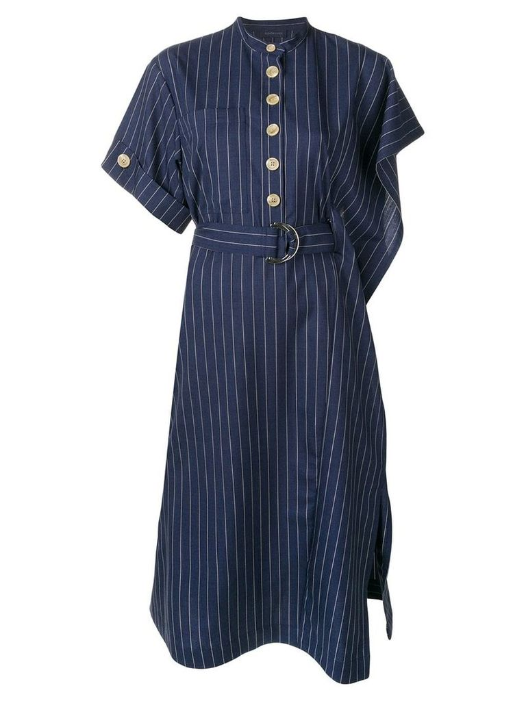 Eudon Choi pinstripe midi dress - Blue