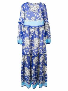P.A.R.O.S.H. floral print tiered maxi dress - Blue
