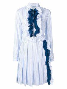 Prada ruffle-trimmed dress - Blue