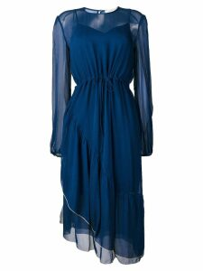 See By Chloé drawstring waist dress - Blue