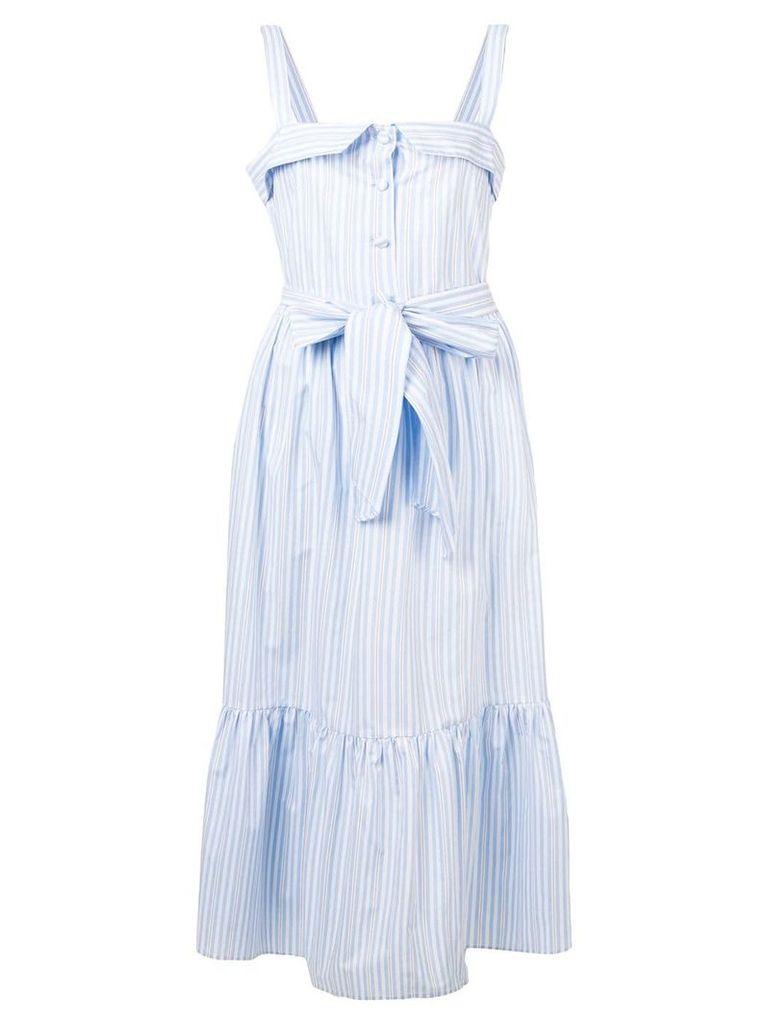 Vivetta striped sleeveless dress - Blue