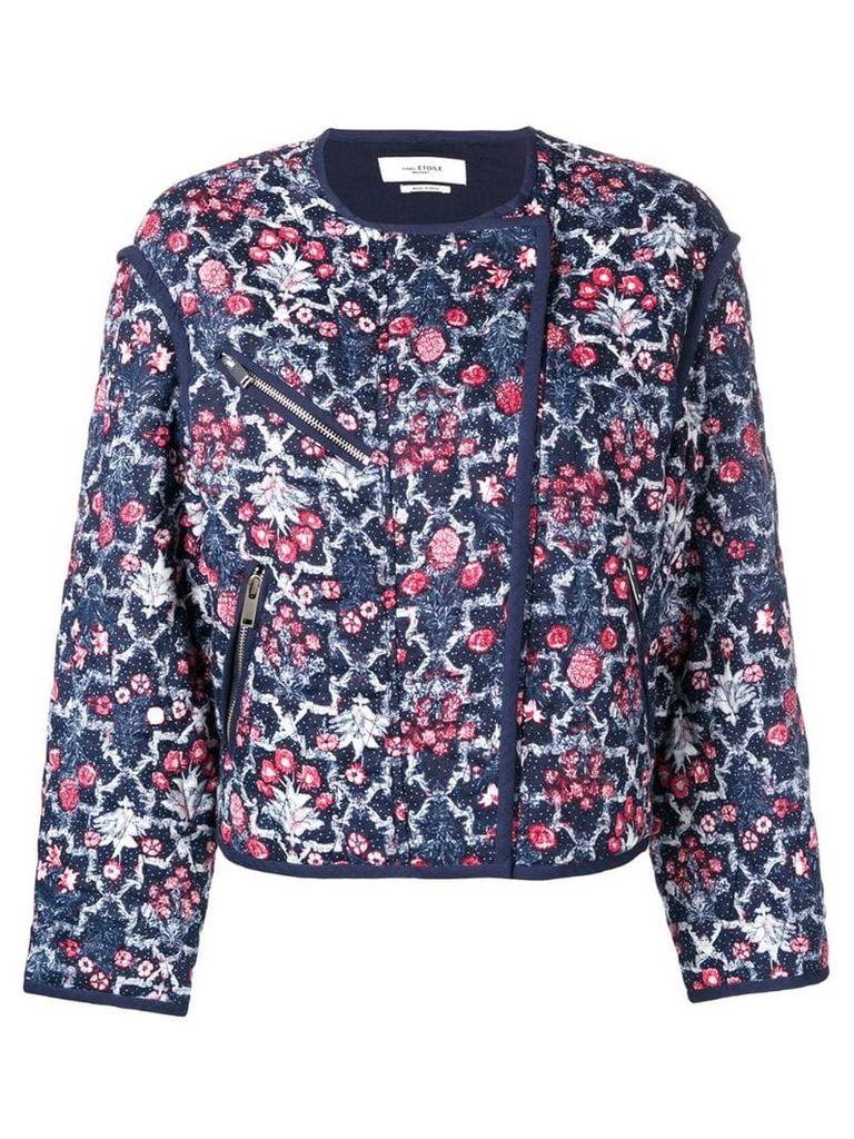 Isabel Marant Étoile cropped floral jacket - Blue