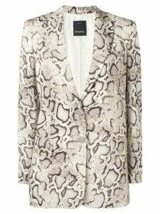 Pinko snakeskin print blazer - Neutrals