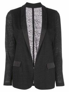 Majestic Filatures lightweight fitted blazer - Black
