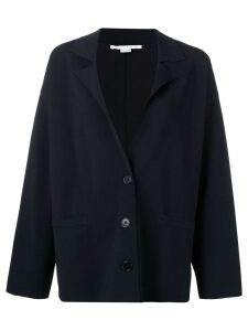 Stella McCartney deconstructed blazer jacket - Blue