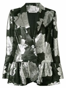Ingie Paris floral metallic blazer - Black