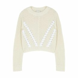 3.1 Phillip Lim Off-white Ribbed-knit Jumper