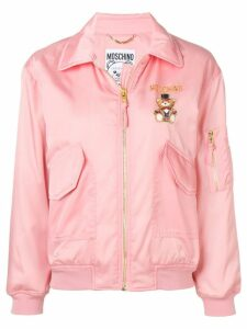 Moschino printed bomber jacket - Pink