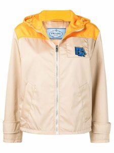 Prada yellow panelled hooded jacket - Neutrals