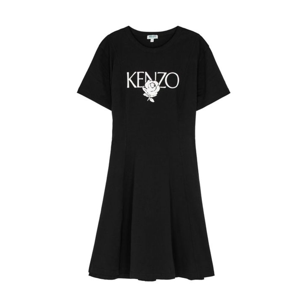 Kenzo Black Printed Cotton Dress