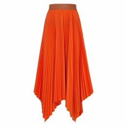 Loewe Orange Pleated Midi Skirt