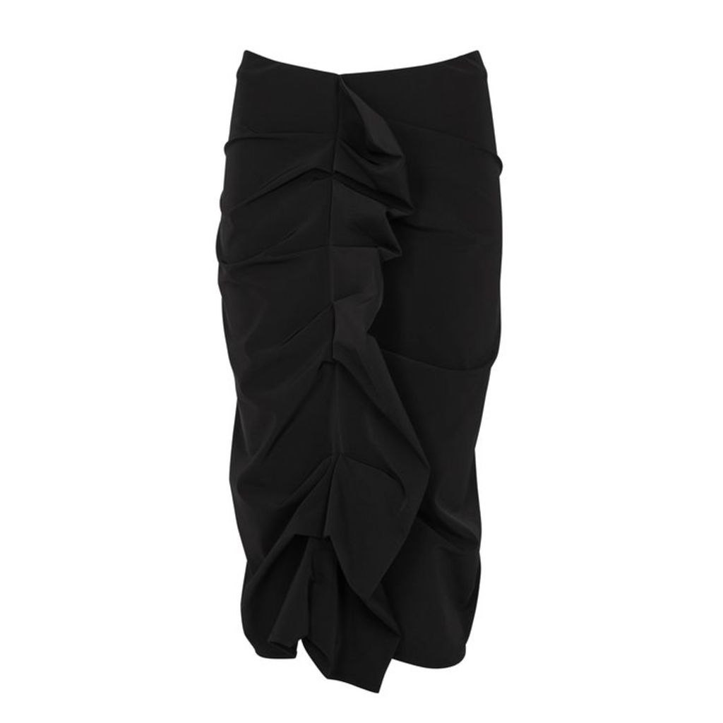 Maison Margiela Black Ruffle-trimmed Nylon Skirt