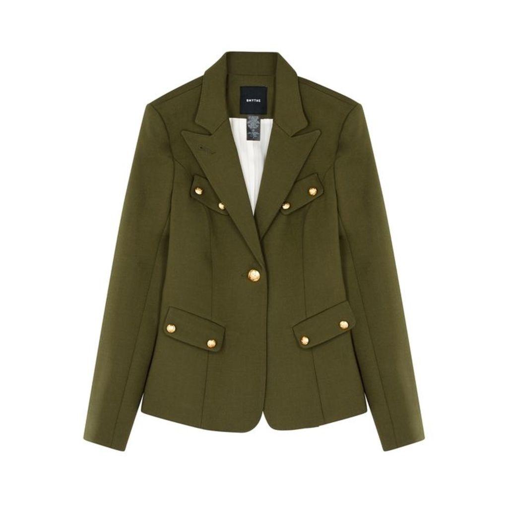 Smythe Army Green Button-embellished Blazer