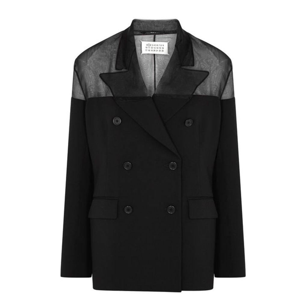 Maison Margiela Black Double-breasted Blazer