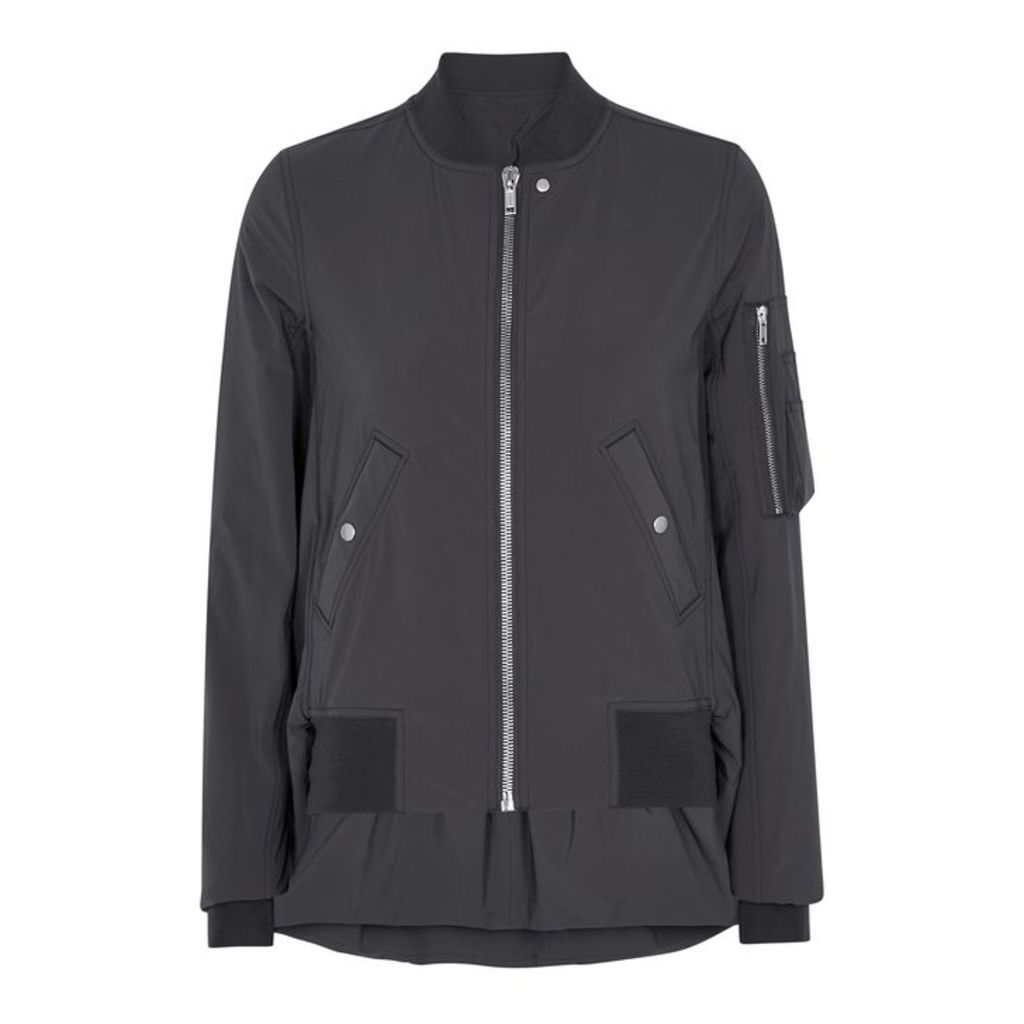 Rick Owens Dark Grey Shell Bomber Jacket