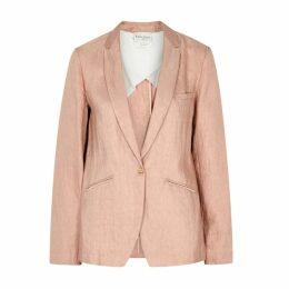 Forte forte Dusky Pink Linen-blend Blazer