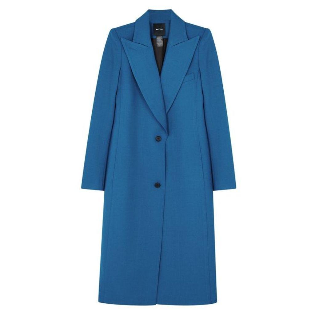 Smythe Blue Wool-blend Coat