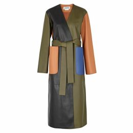 Loewe Colour-block Leather Coat