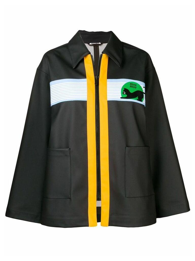 Miu Miu contrast zip jacket - Black