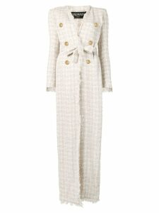 Balmain long belted coat - Neutrals