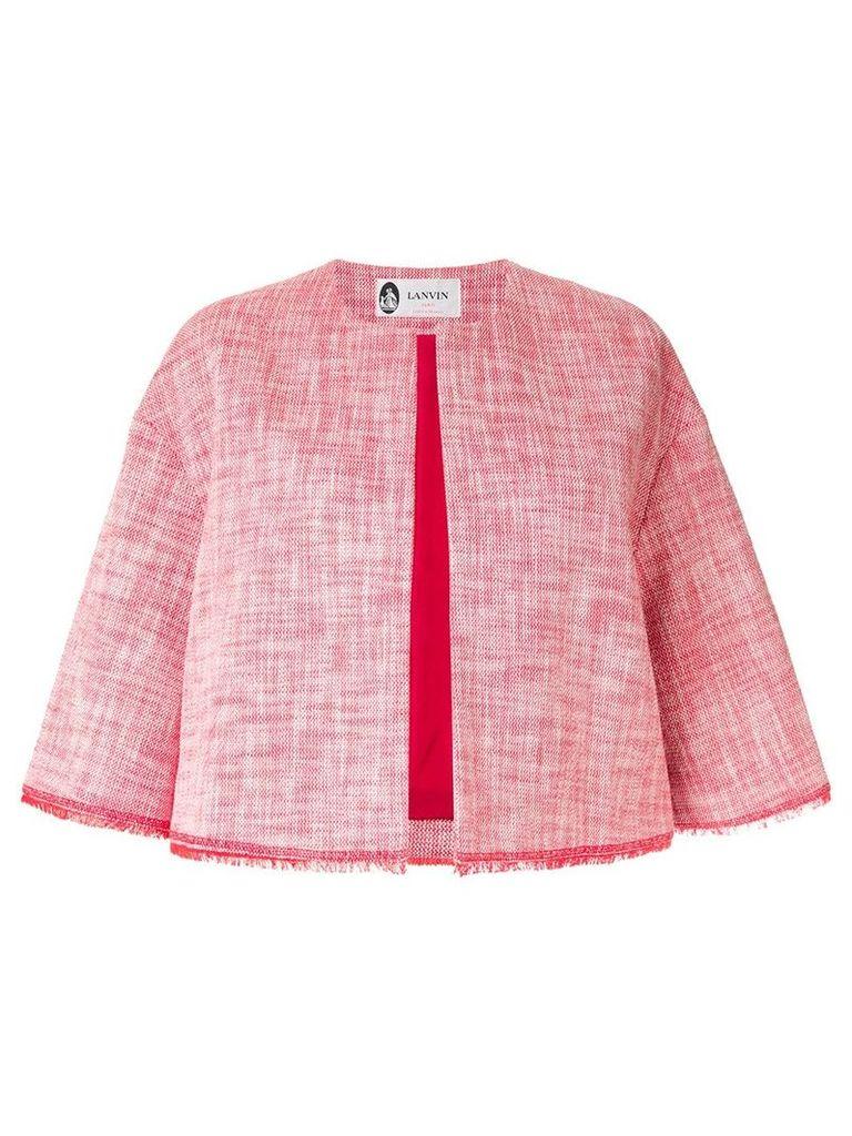 Lanvin cropped tweed jacket - Red