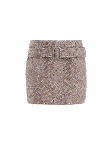 Prada Cloquet Mini Skirt