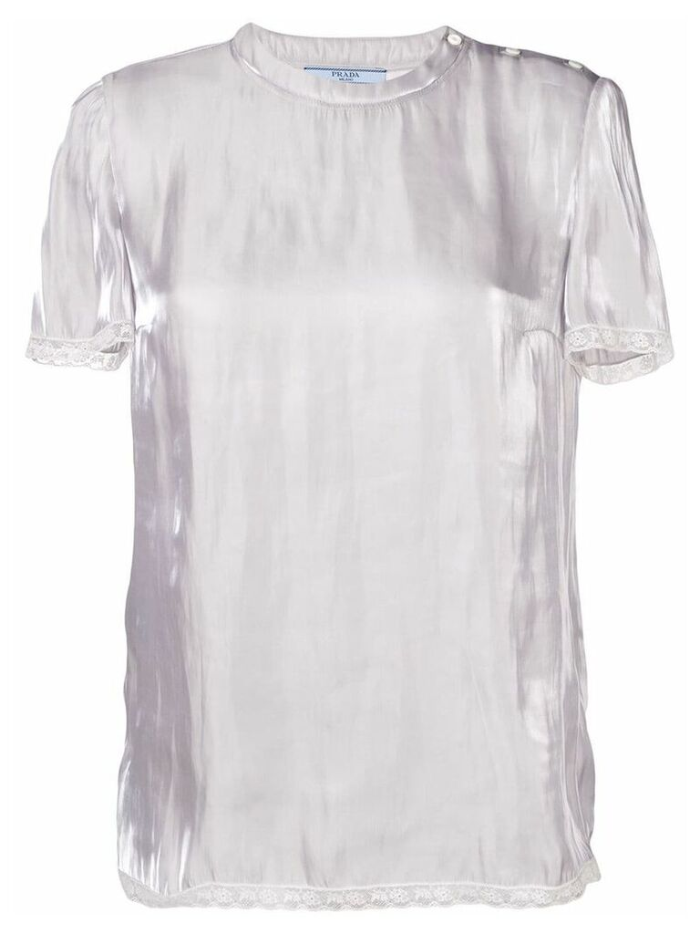 Prada short-sleeve blouse - Silver
