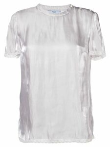 Prada short-sleeve blouse - Silver