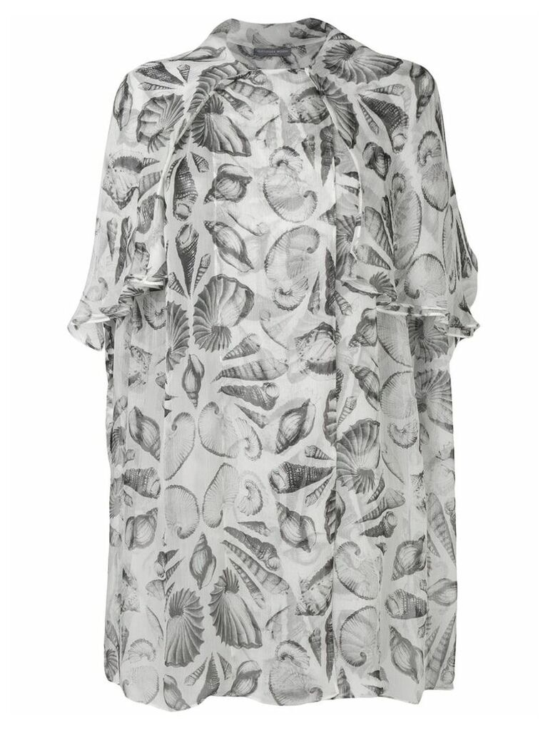Alexander McQueen embroidered oversized blouse - White