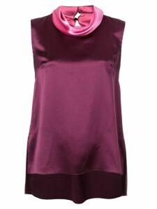 Adam Lippes cowl neck blouse - Purple