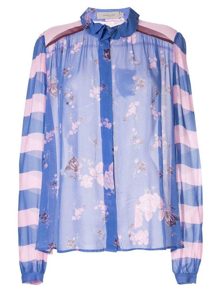 Preen Line floral Grace blouse - Purple