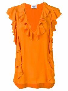 Dondup frill trimmed blouse - Orange