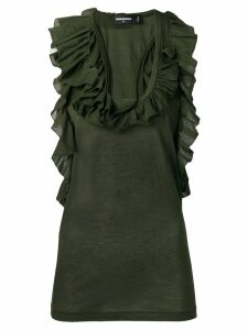 Dsquared2 ruffle neck blouse - Green